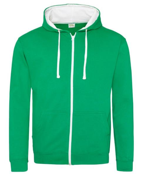 Sweatshirt zippé Contrasté